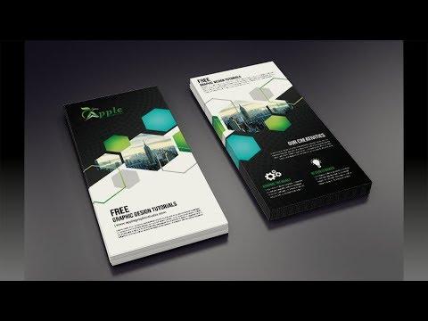 Creative DL Flyer Design - Adobe Photoshop Tutorial