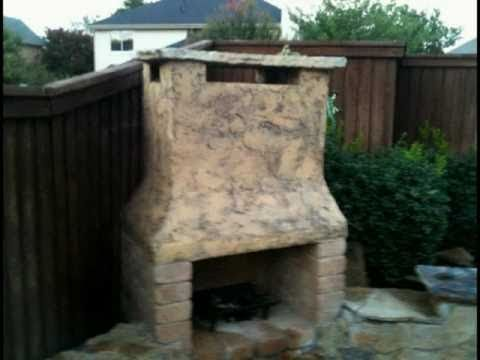 Diy outdoor stone fireplace with bench sitting rowett - Build your own outdoor fireplace ...
