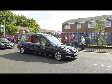 Ex Burnley legend - Jimmy Mcllroy Funeral Cortege at Burnley Football Club 31 August 2018