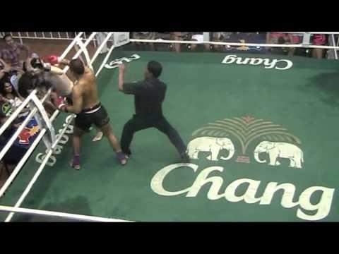 Dux breaks opponents leg in Muay Thai Fight, Brutal! - Sinbi Muay Thai