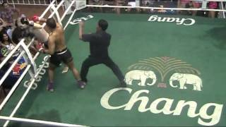 Dux breaks opponents leg in Muay Thai Fight, Brutal! - Sinbi Muay Thai