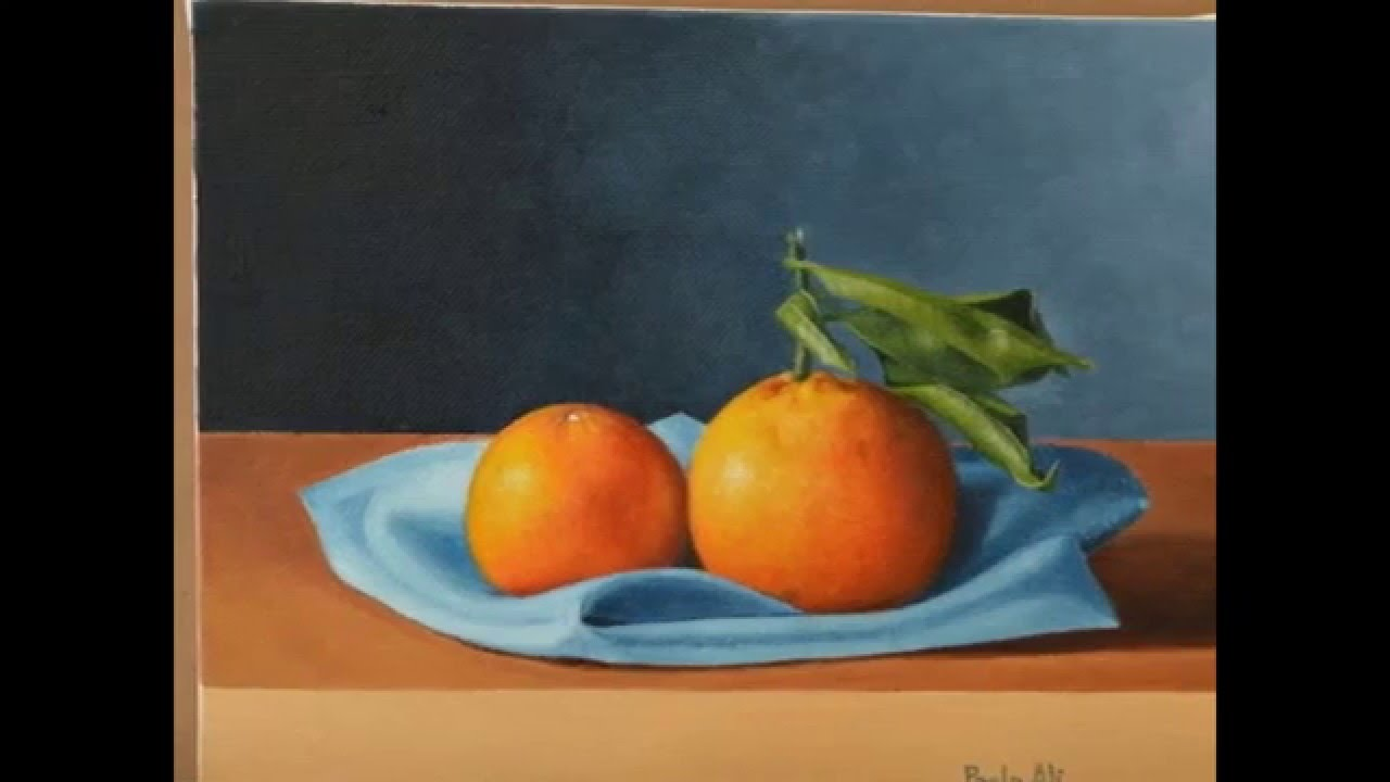 oil painting tutorial : how to paint a still life with oranges in ...