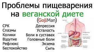Проблемы с пищеварением на веганской диете - GojiMan (русский перевод)