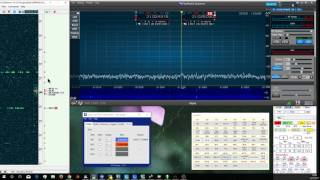 Using CW skimmer, SDR-Bridge, and the Flex 6700 to click tune a pileup