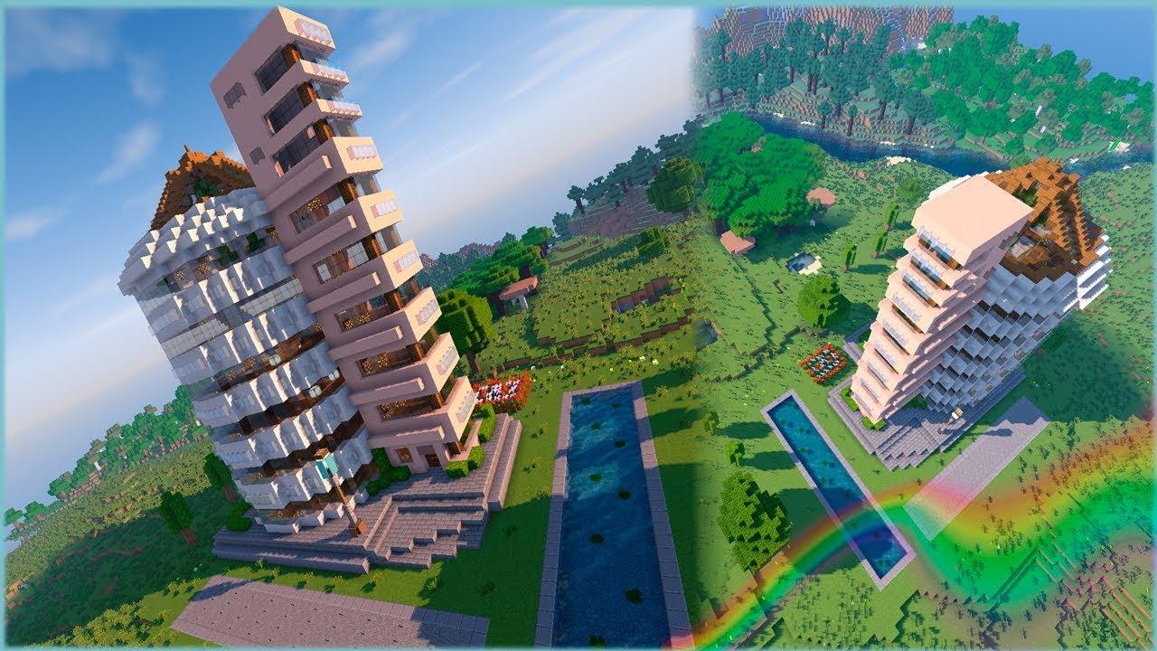 Многоэтажные дома в майнкрафте уроки постройки классные