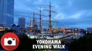 Yokohama Waterfront Abendspaziergang. 4K