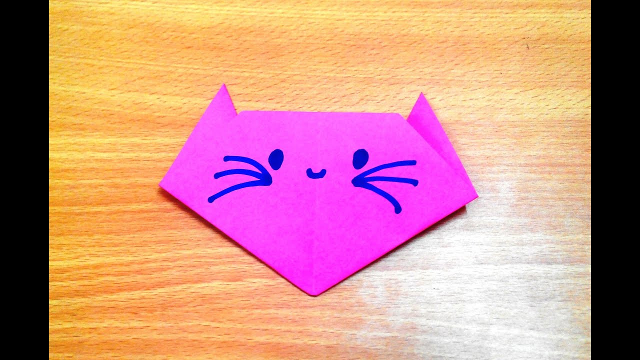 How to make an origami cat face step by step. - YouTube - photo#36