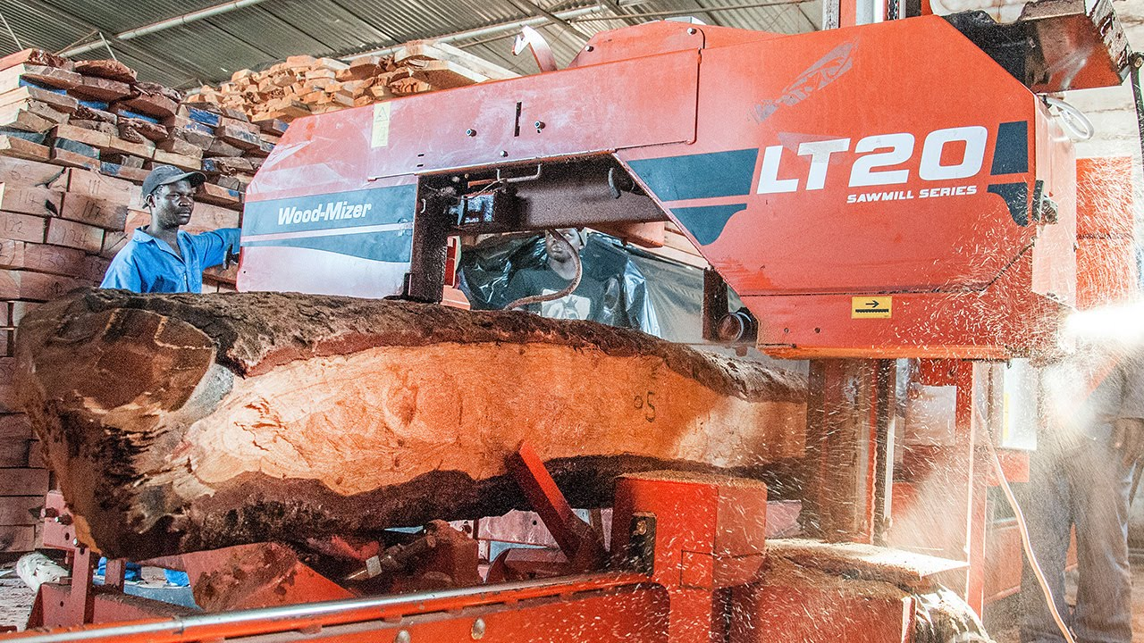 LT20 Sawmilling Rosewood in Africa - Wood-Mizer Africa