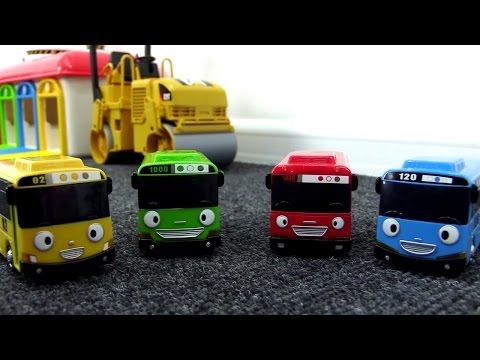 Мультики про машинки - Автобус Тайо строит трассу