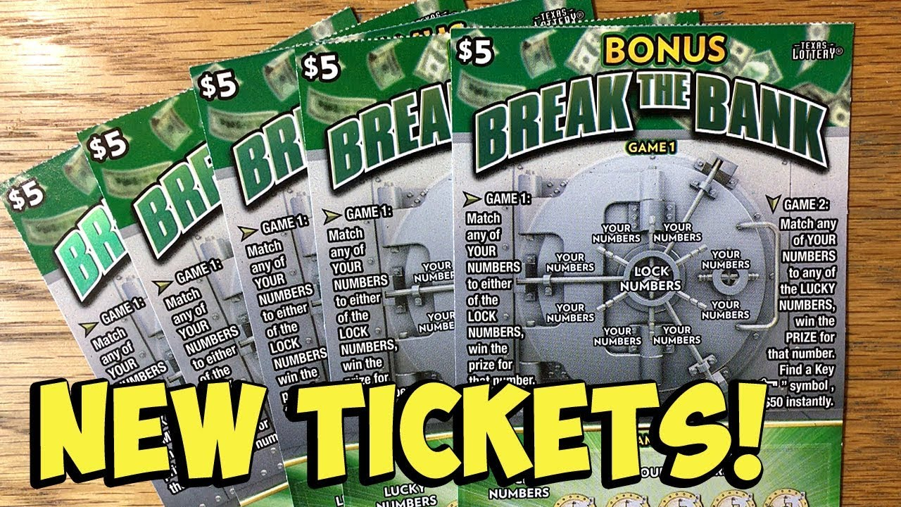 NEW TICKETS! 5X Bonus Break The Bank! ✦ TEXAS LOTTERY Scratch Off Tickets
