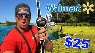 $25 Walmart Fishing Lures ONLY Challenge!! (Surprising)