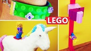 3 LEGO Hacks mit Lego Klebeband | Tipps & Tricks zum Spielen & Basteln: auf Einhorn reiten, Armband