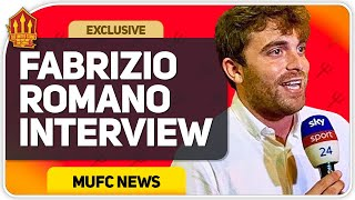 FABRIZIO ROMANO on Sancho, Pogba & Transfers! Man Utd Transfer News Interview