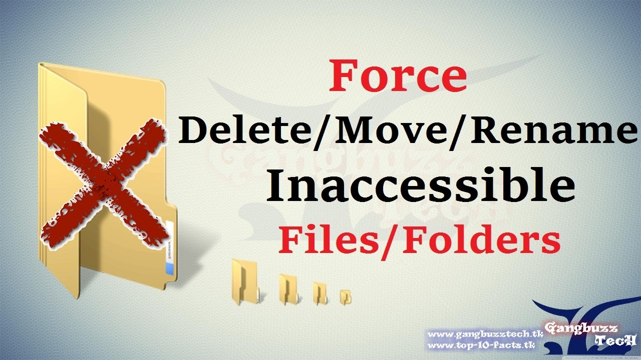 Force Delete Folder - How To Delete or Move or Rename ...