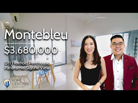 Panoramic View Of Singapore Skyline From Freehold Penthouse Unit, Montebleu in Novena | $3.6M
