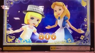 ディズニーキラキラシャイニー☆スター ふしぎの国のアリスで プレイです。 少し増えたカードを使って プレイしました.