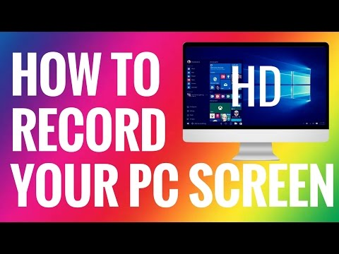 How To Record Your Computer Screen For Free.