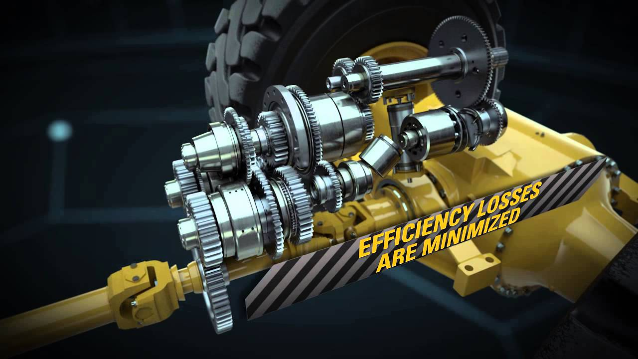 Skid Steer Drivetrain : Cat xe wheel loader innovative powertrain animation