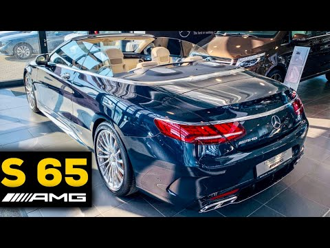 2019 MERCEDES AMG S65 Cabriolet Full Interior Review DESIGNO Exclusive Porcelain Nappa Leather