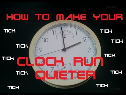 How to Make Your Clock Run Quieter