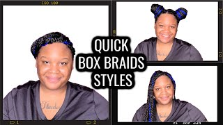 Styling Box Braids With Ease | Protective Styles For Natural Hair