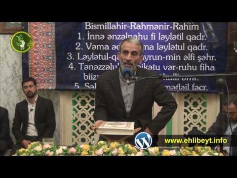 Hacı Əhliman Digah kənd məscidi Quran gecesi