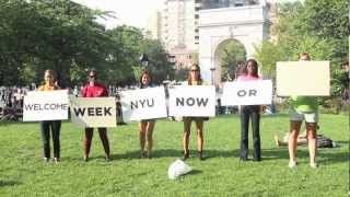 Repeat youtube video NYUWelcomeWeek2012: Now or Never!