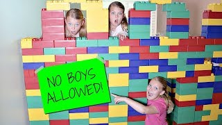 Girls Only Giant Lego Fort No Boys Allowed