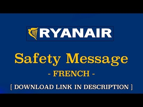Safety Messages | RYANAIR | French / Français