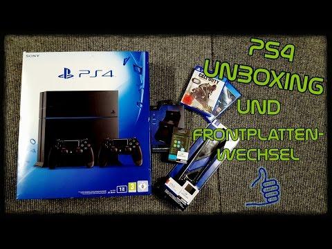 PS4 Unboxing u. Frontplatten Farbwechsel - (Deutsch/German)