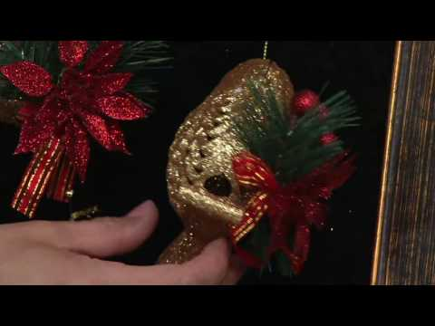 Set of 6 Glittered Forest Friends Ornaments with Embellishments on QVC