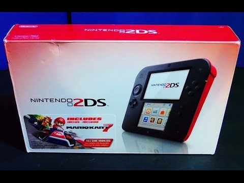 Unboxing Of Nintendo 2ds Mario Kart 7 Dlc Red Crimson Edition From