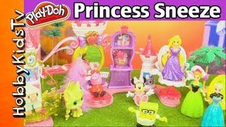 Elsa, Anna ALLERGY at Princess Party + Surprise Play-Doh Egg Toy Guests by HobbyKidsTV