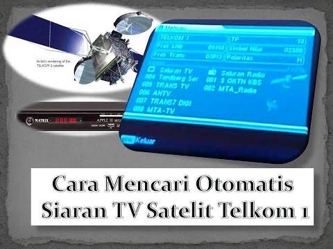 Cara mencari otomatis siaran TV satelit telkom