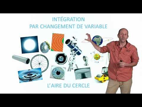 Intégration par changement de variable : l'aire du cercle