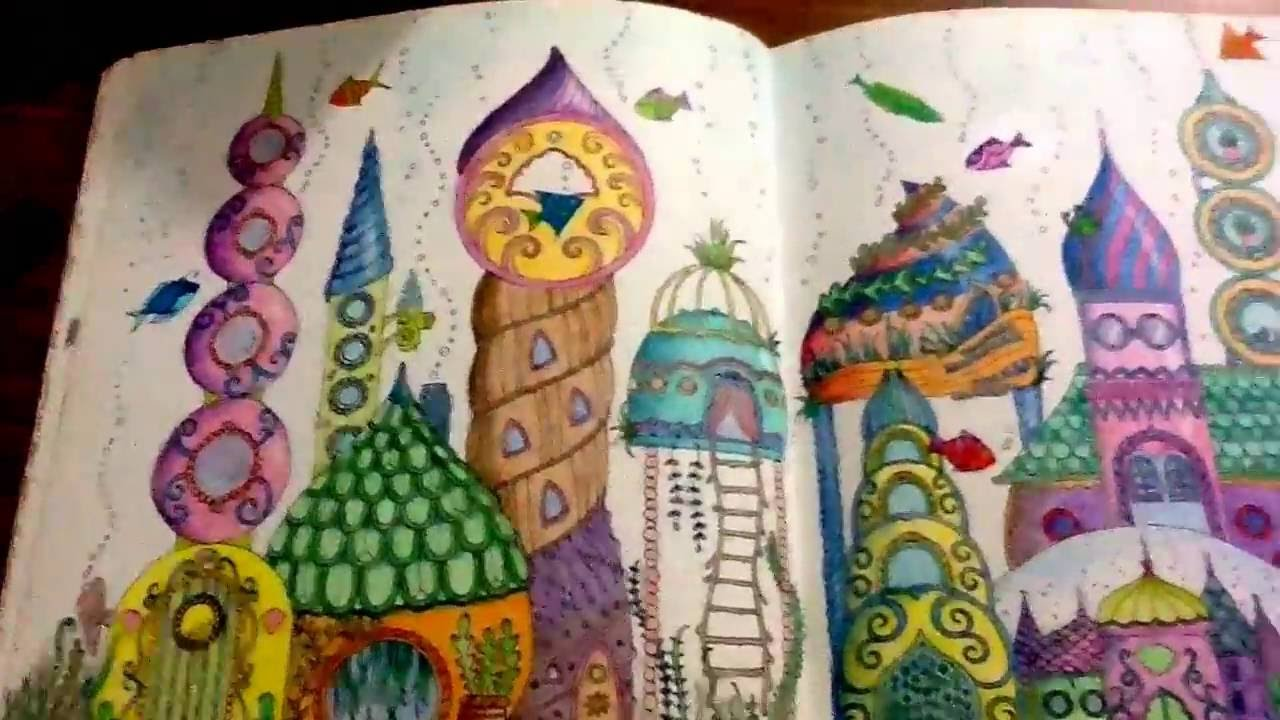Lost Ocean A Coloring Book By Johanna Basford 8 Completed Pages