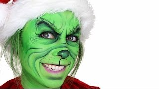 The Grinch Christmas Makeup Tutorial