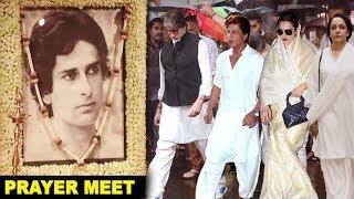 Bollywood Celebs At Shashi Kapoor's Final Rites Ceremony & Prayer Meet - Amitabh,Shahrukh,Rekha