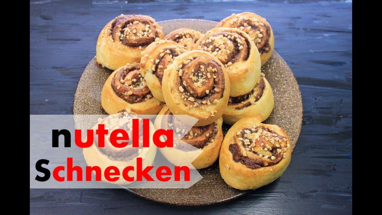 Nutella Schnecken Aus Hefeteig Backen Hefeschnecken Mit Nutella