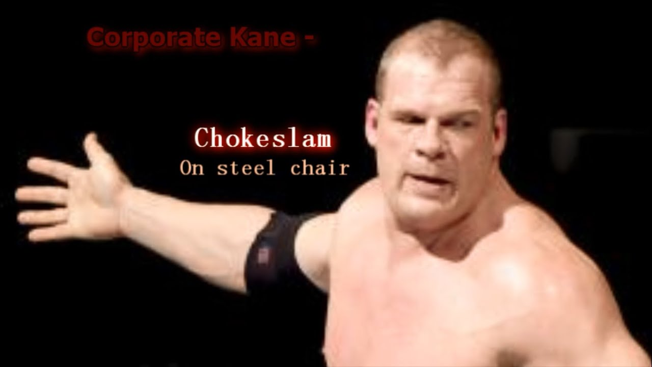 Steel Chair In Wwe Threshold Barrel Corporate Kane Chokeslam On Youtube