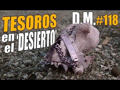 Busco TESOROS en el 'DESIERTO' y encuentro PLATA con detector de metales - Detección Metálica 118