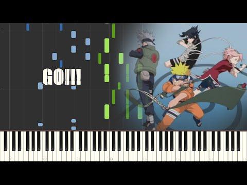Naruto Opening 4 - GO!!! (Piano Synthesia)