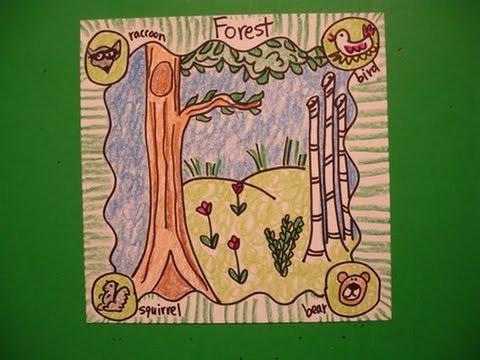 Let S Draw An Animal Habitat The Forest Youtube