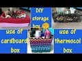 Cardboard Storage Bins/cardboard Storage Boxes/DIY Storage Ideas