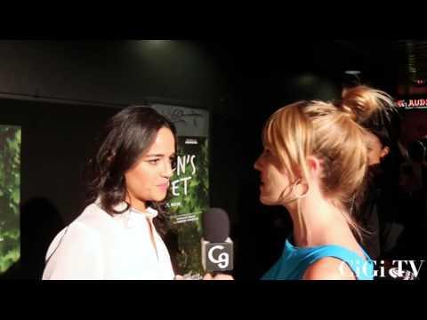 Michelle Rodriguez drops the mic on women's empowerment at the premiere of Milton's Secret.