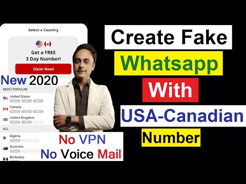 Get Free US Canadian Number, Create WhatsApp Account With Fake Mobile Number 2020 Urdu/Hindi!
