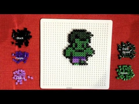 Perler Bead Tutorial Mini Avengers Hulk YouTube Awesome Mini Perler Bead Patterns
