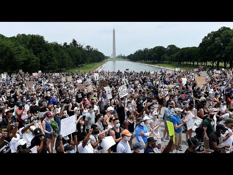 Washington DC sees largest George Floyd protests yet
