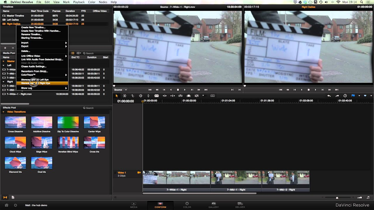 The workflow of editing a short 3D film in Final Cut Pro X and