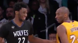 Andrew Wiggins Uses Kobe Bryant's Own Move Against Him, Kobe Approves